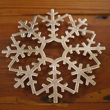 Vtg Mid Century XMAS Snowflake Holiday Leonard Silver Plate Italy Trivet Hanging