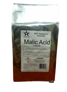 Malic Acid 1Lb FCC/ USP/ Food Grade Fine Granular Powder Free Shipping