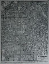 Vintage 1944 Nice World War WWII Atlas City Map Los Angeles California CA LA OLD