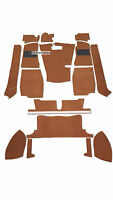 MGB ROADSTER & MGB GT  CARPET SET LIGHT BROWN CARRELLI WITH HESSIAN BACKING