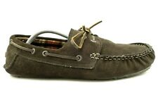 Clarks Brown Leather Insulated Casual Deck Boat Slippers Shoes Men's 12 M