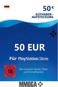50€ Eur PlayStation Network Card - Sony PSN PS3 PS4 PS Vita 50 Euro Guthaben DE*