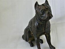 j277 Vintage Cast Iron Boston Terrier Dog Still Bank