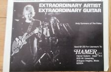 POLICE 'Andy Summers Hamer Guitars' magazine ADVERT/Poster/Clipping 8x6 inches
