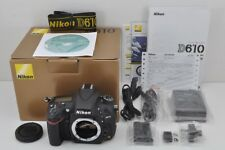 Nikon D610 24.3MP Digital SLR Camera Black Body with Box EXCELLENT #171101a