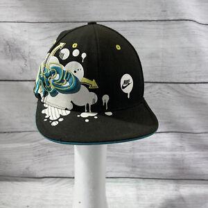 Nike Air Sport Graffiti Hat Skater Hat Vintage Black men's Sz 7 1/2 Casual
