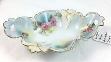 Vintage Small Porcelain Dish With floral pattern and Gold Trim