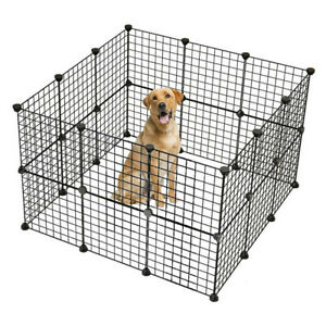 Pet Playpen Small Animal Cage Indoor Portable Yard Fence Kennel Crate 32PCS Set