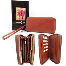 Gianni Conti Leather Zip Around Wrist Bag Pure - Style 918406 BNWT