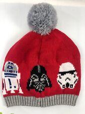 Hanna Andersson Star Wars rot grau R2-D2 Darth Vader Winter Mütze Hut Knit NWT