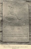 ROXBURY NY – Memorial Tablet of John Burroughs On Boyhood Rock