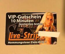 Live-strip.com  5 x 10 Minuten VIP Gutscheine  +   Live Strip Magazin 1 / 2016