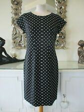 MARC CAIN Black & White Polka Dot Stretch Panel Dress N4 14