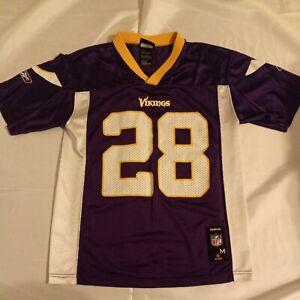 Reebok Youth NFL Adrian Peterson Minnesota Vikings Jersey Boys M (10-12) Purple