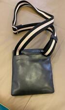 Bally Switzerland Men's Tomey Black Leather Mini Crossbody Shoulder bag