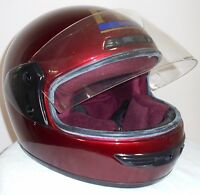 Motorcycle Helmet Model SBK FM by Fimez Italy Red Size 58 Medium Large Vintage