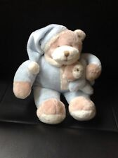 Light Blue Teddy With Night Cap Justina Claine Plush Comforter Toy