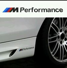 2 x BLACK M Performance Power Side stickers Decals Vinyl Graphics Bmw BLACK