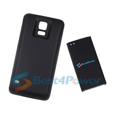 8680mAh Extended Life Battery+Black Cover For Samsung Galaxy S5 G900V i9600