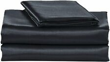 EliteHomeProducts EHP Super Soft and Silky Satin Sheet Set (Solid/Deep Pocket) (