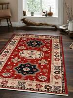Hand Knotted Afghan Traditional 8x10 Oriental 6x9 Carpet Kazak 10x13 Area Rug