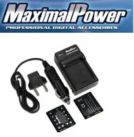 2x MaximalPower™ Battery +Charger for FUJIFILM FUJI NP-45 NP-45S FinePix XP60