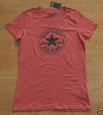 Camisetas de mujer de color principal rojo 100% algodón
