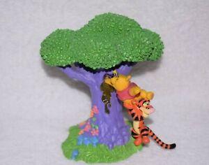Disney Winnie The Pooh & Tigger Honey Tree Plastic Figure Rare 13cm