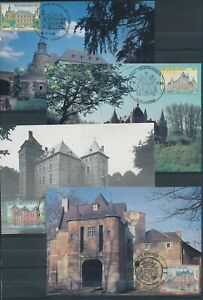 XC79293 Belgium 1985 castles monuments landmarks maxicards used