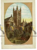 Canterbury Cathedral, London, England, Book Illustration (Print), 1891