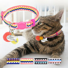 Kitten Cat Breakaway Collars & Personalized Pet ID Name Tag Safety Quick Release