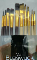 10 teiliges Pinselset Markenqualität Acryl Öl Künstler Malen Profi Pinsel Set