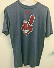 Adidas CLEVELAND INDIANS CHIEF Mens DRI-FIT Large blue L LG