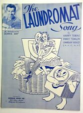 DENNIS DAY 1949 Sheet Music THE LAUNDROMAT SONG Kemor Publ. 40's Traditional POP