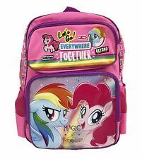"My Little Pony Pink Backpack School Book Bag Backpack 16"" for Kids"