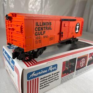 Illinois Central Gulf Orange Box Car American Flyer S gauge # 4-9712