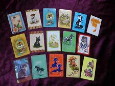 Vintage Swap Trade Playing Cards Animals Dog Cat Koala Rabbit Horse Skunk Mouse