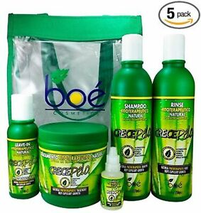 Boe Crece Pelo 5 Pack Combo Set w Tote Bag EXP: 10/24 ORIGINAL & FRESH