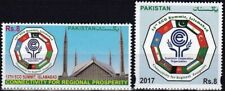 Pakistan Stamps 2017 ECO Summit Islamabad Flags