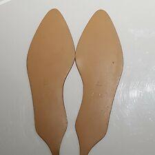 Women Full Plain Beige Rubber Soles Shoe Repairs Cobblers Tools Size 6.5 - 7.5