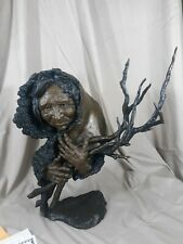 "Mark Hopkins Bronze Sculpture ""Gathering Wisdom"" 36 Of 450 Limited Edition"