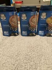 3 PK Gerber Oatmeal Baby Food Exp June And July 2021