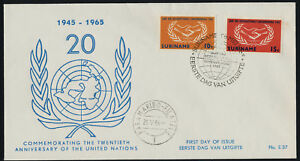Surinam 317-8 on 20th Anniv Cachet FDC - International Cooperation Year