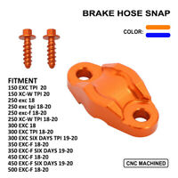 Aluminum Brake Line Clamp With Plastic Screw For EXC XC 350 250 EXC-F Motorcycle