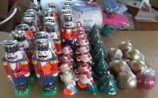 CHRISTMAS WHOLESALE aSSORTED Lot of 10 Beautiful CANDLES Nutcracker Santa Tree