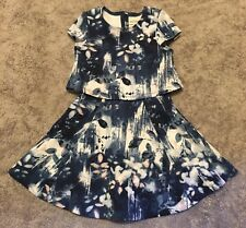 Toddler Girls Abercrombie & Fitch AF Polyester Short Sleeve Floral Dress Sz 3/4
