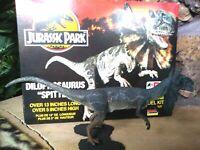 "LINDBERG JURASSIC PARK DILOPHOSAURUS SPITTER 14"" VINYL PRO-BUILT FIGURE,Mint,BOX"