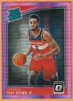 2018-19 Panini Donruss Optic Troy Brown Jr. Rated Rooke Pink Hyper Prizm RC #192