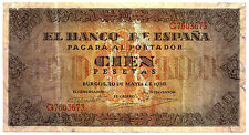 BILLETE DE 100 PESETAS DE 1938 (BC+) BURGOS (SERIE G)