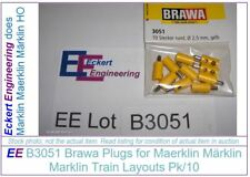 EE B3051 NEW Brawa Yellow Gelb Plugs for Maerklin Märklin Marklin Pk/10 B 3051